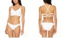 Jessica Simpson Rose Bay Solid Textured Midkini Bikini Top & Shirred Hipster Bottoms