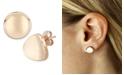 Macy's Dapped Disc Stud Earrings Set in 14k White or Rose Gold (10mm)
