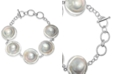 Macy's Cultured Button Blister Pearl (18-20mm) Bracelet in Sterling Silver