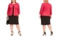 Kasper Plus Size Colorblocked Sheath Dress & Cuffed Jacket