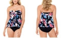 Swim Solutions Bandeau Flyaway Tankini Top & Swim Bottoms, Created for Macy's