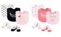 Little Treasure Baby Girl 5-Piece Bib and Sock Set