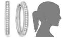 Macy's Diamond Hoop Earrings in Sterling Silver (1/4 ct. tw.)