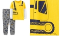 Carter's Baby Boys 2-Pc. Layered-Look T-Shirt & Construction-Print Jogger Pants Set
