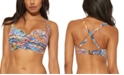 Bleu by Rod Beattie Printed Ruched Underwire Bikini D-Cup Top