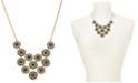 "Charter Club Gold-Tone Crystal & Imitation Pearl Burst Statement Necklace, 17"" + 2"" extender, Created for Macy's"