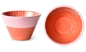 Coton Colors by Laura Johnson Persimmon Hello Happy Appetizer Bowl
