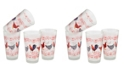 Culver French Country Chicken Pint Glass 16-oz Set of 4