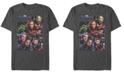 Marvel Men's Avengers Endgame Broken Glass Group, Short Sleeve T-shirt