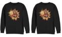 Marvel Men's Captain Marvel Fire Burst Chest Logo, Crewneck Fleece
