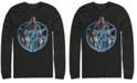 Marvel Men's Avengers Endgame Triple Hero Wheel, Long Sleeve T-shirt