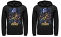 Marvel Men's Avengers Infinity War Big Face Thanos Poster, Pullover Hoodie