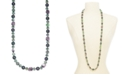 """Charter Club Silver-Tone Stone & Imitation Pearl Long Necklace, 42"""" + 2"""" extender, Created For Macy's"""