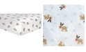 Trend Lab Reindeer Flannel Crib Sheet