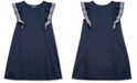 Polo Ralph Lauren Little Girls Ruffled Stretch Ponte Dress