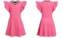 Tommy Hilfiger Big Girls Ruffle-Sleeve Dress