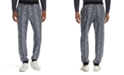 Tallia Men's Tapered Stretch Snake Skin Print Joggers
