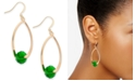 Charter Club Gold-Tone Faceted Bead Drop Earrings, Created For Macy's