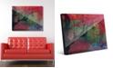 "Creative Gallery Sundown Willow Tree on Scarlet Abstract 16"" x 20"" Acrylic Wall Art Print"