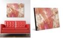 "Creative Gallery Fire Horse in Peach Abstract 16"" x 20"" Acrylic Wall Art Print"