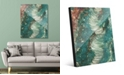 "Creative Gallery Tornado Lontano on Teal Abstract 24"" x 36"" Acrylic Wall Art Print"