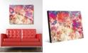 "Creative Gallery Splatter Shop Vermillion Abstract 24"" x 36"" Acrylic Wall Art Print"
