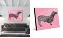 "Creative Gallery Traits Dachshund Dog in Grey on Pink 24"" x 36"" Acrylic Wall Art Print"