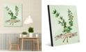 "Creative Gallery Watercolor Thyme on Green 20"" x 24"" Acrylic Wall Art Print"