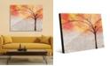 "Creative Gallery Sparkle Tree in Orange Yellow Abstract 20"" x 24"" Acrylic Wall Art Print"