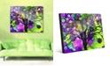 "Creative Gallery Mystic Orb Tree on Purple Abstract 24"" x 36"" Acrylic Wall Art Print"