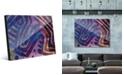 Creative Gallery Kasanka in Purple Abstract Acrylic Wall Art Print Collection