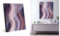 Creative Gallery Xcitement in Purple Abstract Acrylic Wall Art Print Collection