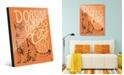 "Creative Gallery Cats Have Staff - Tabby on Orange 24"" x 36"" Acrylic Wall Art Print"