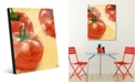 Creative Gallery Painted Tomatoes on Yellow Acrylic Wall Art Print Collection