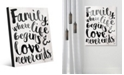 Creative Gallery Family - Where Life Beings in Black Acrylic Wall Art Print Collection