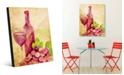 "Creative Gallery Degustazione Vini Watercolor Abstract 20"" x 24"" Acrylic Wall Art Print"