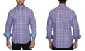 TailorByrd Men's Grid Plaid Button Down Shirt