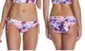 Raisins Juniors' Torquay Printed Sweet Side-Tie Hipster Bikini Bottoms, Created For Macy's