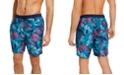 "Calvin Klein Men's Hawaiian Quick-Dry UV 50+ Tropical-Print 7"" Swim Trunks, Created for Macy's"