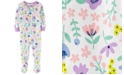 Carter's Baby Girls Cotton 1-Pc. Floral-Print Footie Pajama