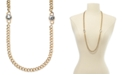 """Charter Club Crystal & Large Link 36"""" Strand Necklace, Created For Macy's"""