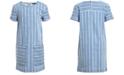 Tommy Hilfiger Big Girls Striped Denim Dress