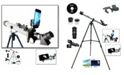 Cassini 800mm x 60mm Day and Night Refractor Telescope Kit with Smartphone Adapter and 3x Barlow Lens