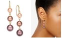 Charter Club Gold-Tone Imitation Pearl Linear Drop Earrings, Created for Macy's