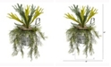 Nearly Natural 14in. Staghorn and Tillandsia Artificial Plant in Vintage Hanging Metal Pail