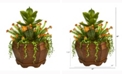 Nearly Natural 16in. Succulent Garden Artificial Plant in Decorative Planter