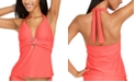 Bar III Ring Banded Halter Tankini Top, Created for Macy's