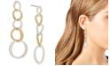 Robert Lee Morris Soho Two-Tone Sculptural Circle Link Linear Earrings