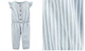 Carter's Baby Girls Cotton Striped Jumpsuit