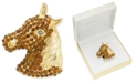 Charter Club Gold-Tone Pavé Horse Head Pin, Created for Macy's
